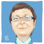 A cartoon image of Patricia Martin, blog author