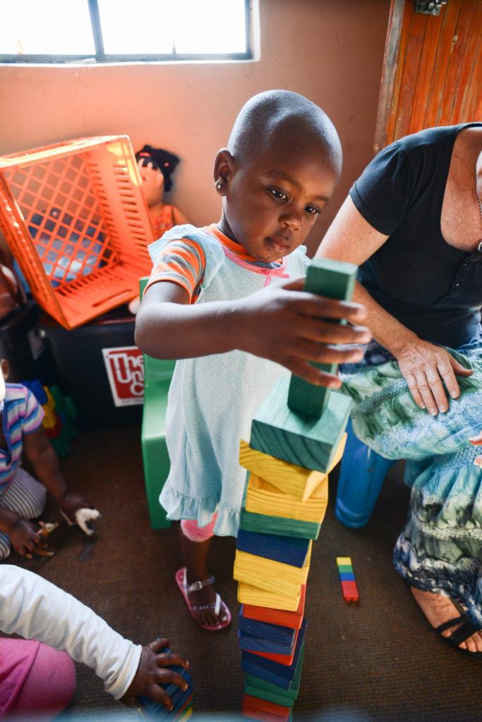 A child learns through play at an ECD centre in KZN
