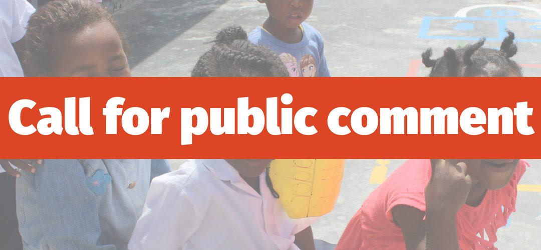 Call for comments: draft Children's Third Amendment Bill