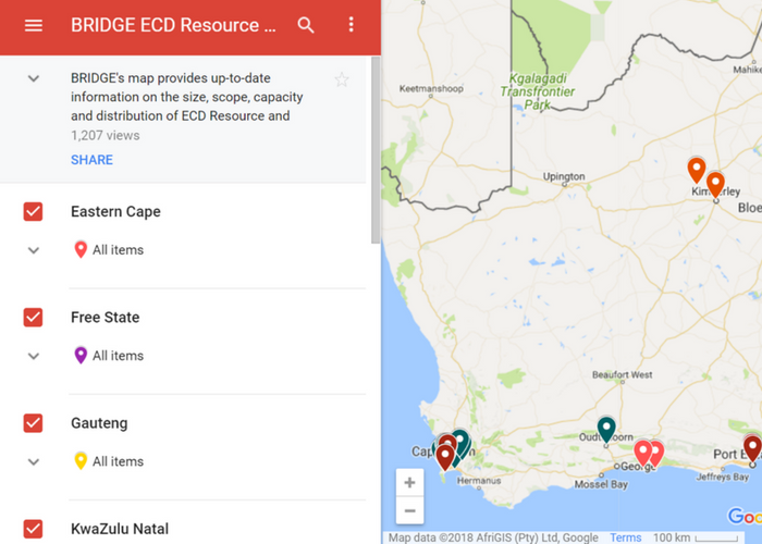 Bridge's map tool lists more than 90 resource and training organisations in SA